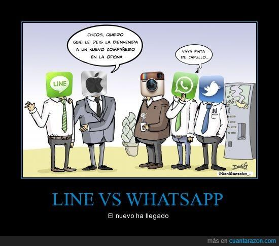 Line Vs WhatsApp - social media
