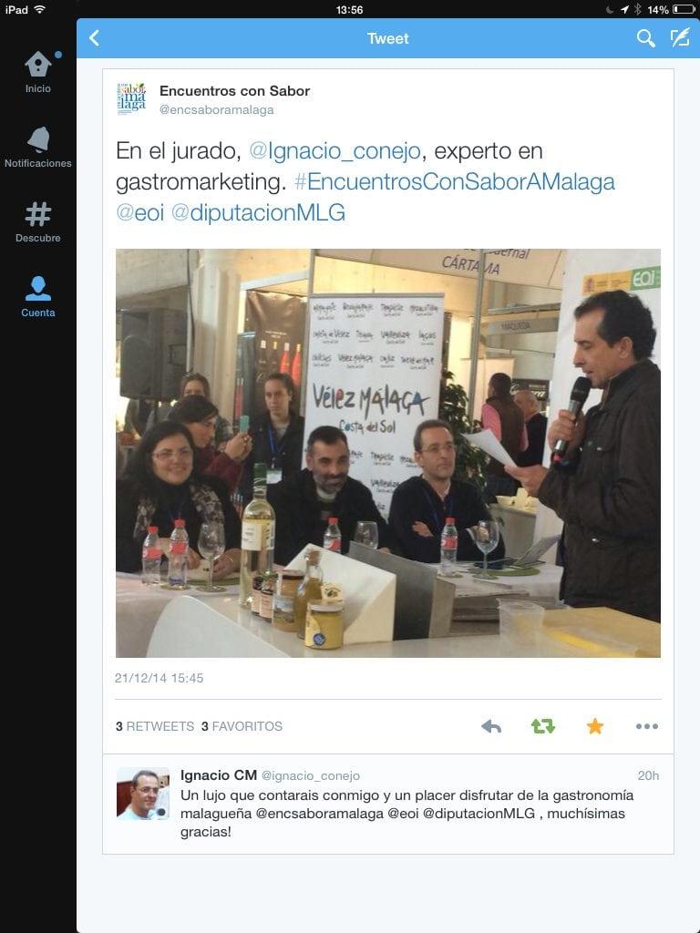 Encuentros con Sabor a Málaga La Axarquía #GastroMarketing