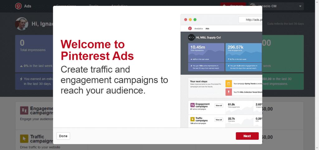 Uso de Pinterest Ads